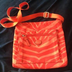 Coach Cross Body Orange on Orange Striped
